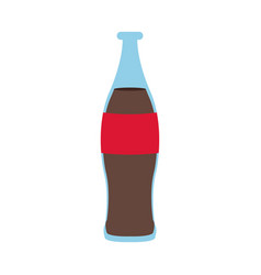 Beverage cola soda carbonated drink bottle vector