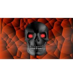 black human skull vector image