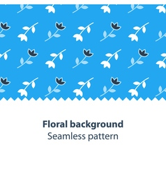 Blue flowers fancy backdrop pattern vector