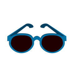 blue frame sunglasses icon image vector image