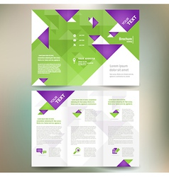 brochure folder leaflet geometric triangle origami vector image