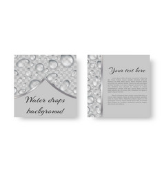 Brochure with droplets vector
