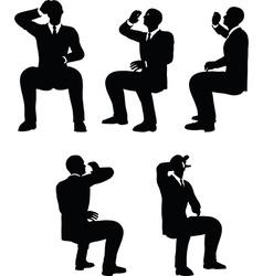 Businessman drink vector