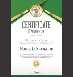 Certificate retro design template 07 vector