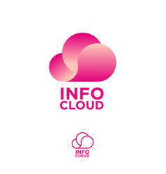 cloud computing logo info emblems chat vector image