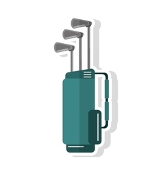 Clubs inside bag of golf sport design vector image