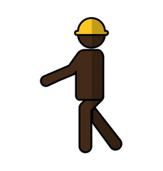 Construction professional avatar silhouette vector