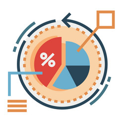 Conversion rate flat vector
