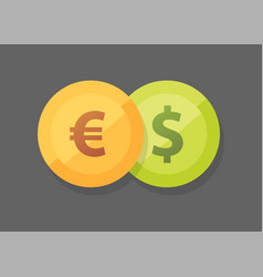 currency pair of euro vs dollar icon on vector image
