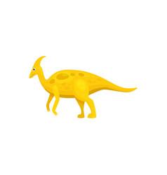 Dinosaur parasaurolophus isolated cartoon animal vector