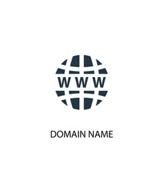 domain name icon simple element vector image