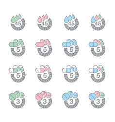 Dosage icons vector