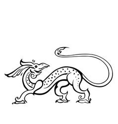 Dragon traditional ethnic vector