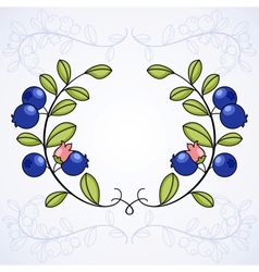 Elegant frame with blueberries vector image