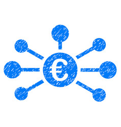 euro relations icon grunge watermark vector image