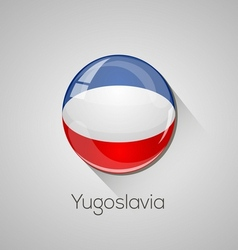 European flags set - Yugoslavia vector