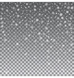 Falling Shining Snowflakes vector image