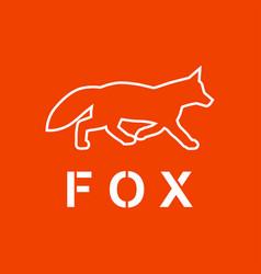 Fox as a silhouette vector