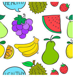 Fruit various of doodles vector
