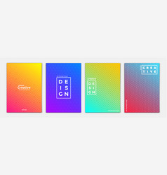 Geometric brochure design 3 vector