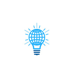 globe idea logo icon design vector image