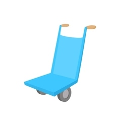 Hand cart icon cartoon style vector