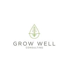 hempcannabis oil logo design vector image