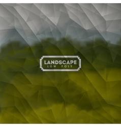 landscape low poly design vector image