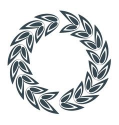 laurel leaves wreath vector image