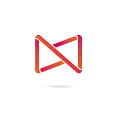 letter n logo design template elements vector image