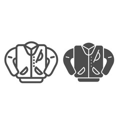 Letterman jacket line and glyph icon high school vector