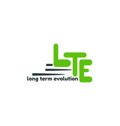 Long term evolution logo template lte 4g internet vector