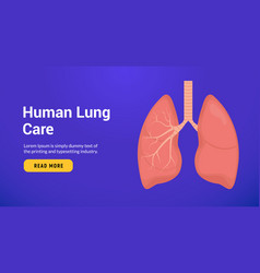Lung anatomy health banner concept tuberculosis vector