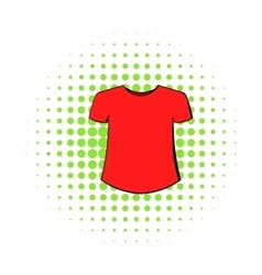Men t-shirt icon comics style vector image