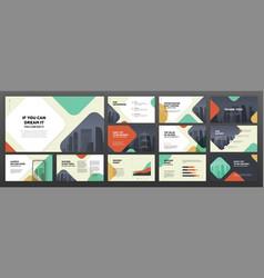 modern presentation templates set for business vector image