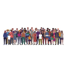 multinational group people vector image