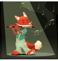 Musician fox vector