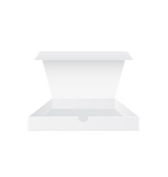 open white box mockup vector image