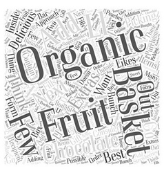 Organic gift baskets Word Cloud Concept vector