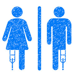 Patient wc persons grunge icon vector