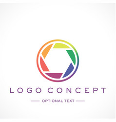 Photography logo and text for designs vector
