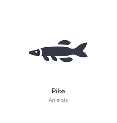 Pike icon isolated icon from animals vector