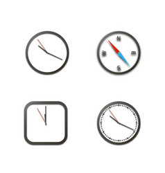 Realistic icons clock vector