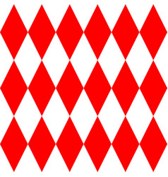 Red and white tile pattern vector