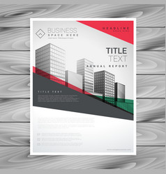 Red geometric business flyer poster design vector