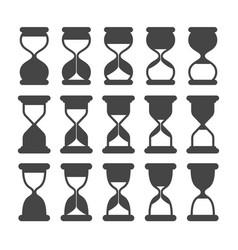 sand clock or timer silhouette symbols retro vector image