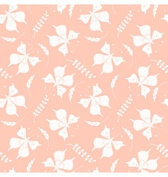 Seamless pattern with butterflies and floral vector image