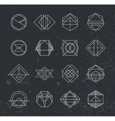 Set of retro vintage hipster insignias vector
