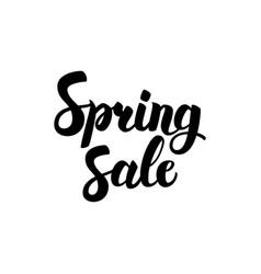 spring sale handwritten calligraphy vector image