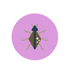 Stylish icon in color circle beetle insect vector